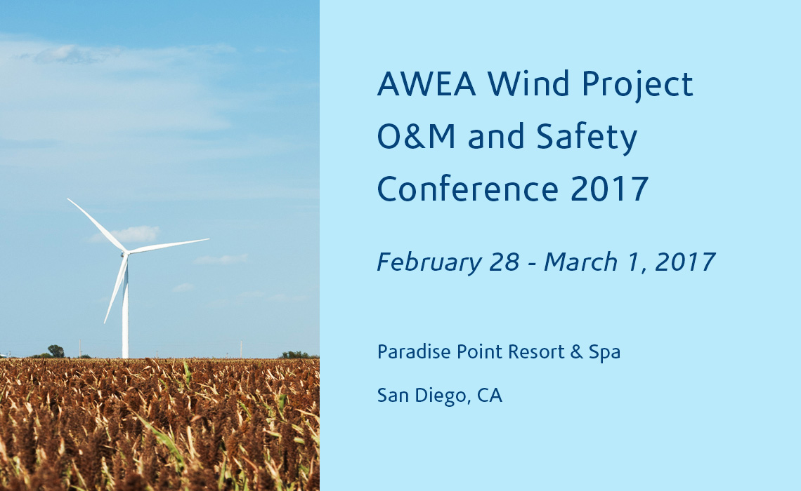 AWEA Wind Project O&M and Safety Conference 2017 info